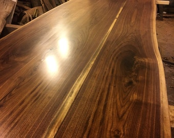 Natural Live Edge Walnut Slab Table Coffee Dining Conference Island  Countertop