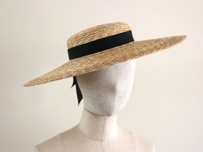 Victorian Hat History | Bonnets, Hats, Caps 1830-1890s Straw Wide-Brimmed Boater Hat