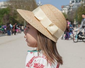 "Kid's straw hat for summer  ""Ramona"""