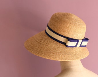 "Wide Brim Straw Hat ""Nautical Cecil"""