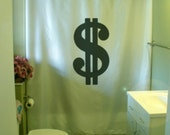 dollar sign Shower Curtain money symbol cash wealth greenback buck bread dough bathroom decor bath curtains custom size waterproof