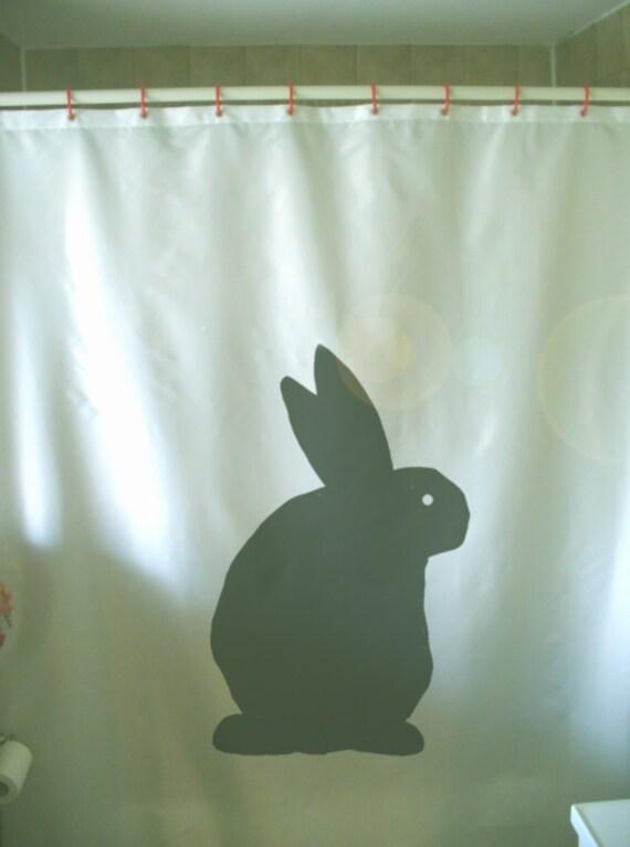 Bunny Rabbit Shower Curtain Easter Ear Cute Pet Fertility