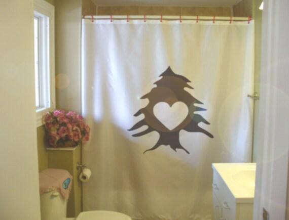 Love Lebanon Shower Curtain Lebanese Heart Cedar Lubnan Home Liban Bathroom Decor Kids Bath Curtains Custom Size Long Wide Waterproof