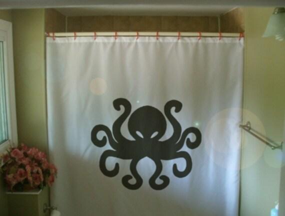 Tende Da Doccia Personalizzate : Polpo doccia tenda tentacolo otto oceano mare dei cefalopodi etsy