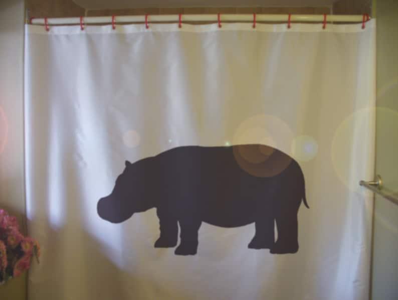 Hippo Shower Curtain Hippopotamus Africa African River Animal