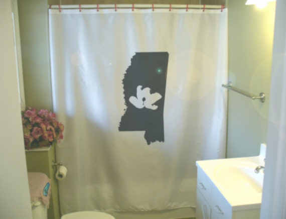 Mississippi Magnolia Shower Curtain State Catfish South MS Map