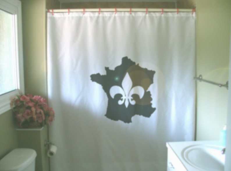 France Fleur De Lis Shower Curtain French Lily Heraldry