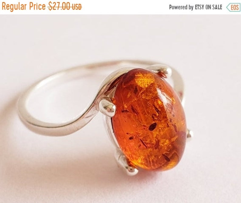 Baltic Amber ring Sterling Silver Ring Amber Jewelry ON SALE 15/% Amber Ring Real Amber Statement Silver ring Genuine Amber Ring