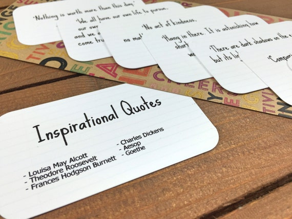 Inspirational quote cards inspiring quotes party favor etsy image 0 reheart Gallery