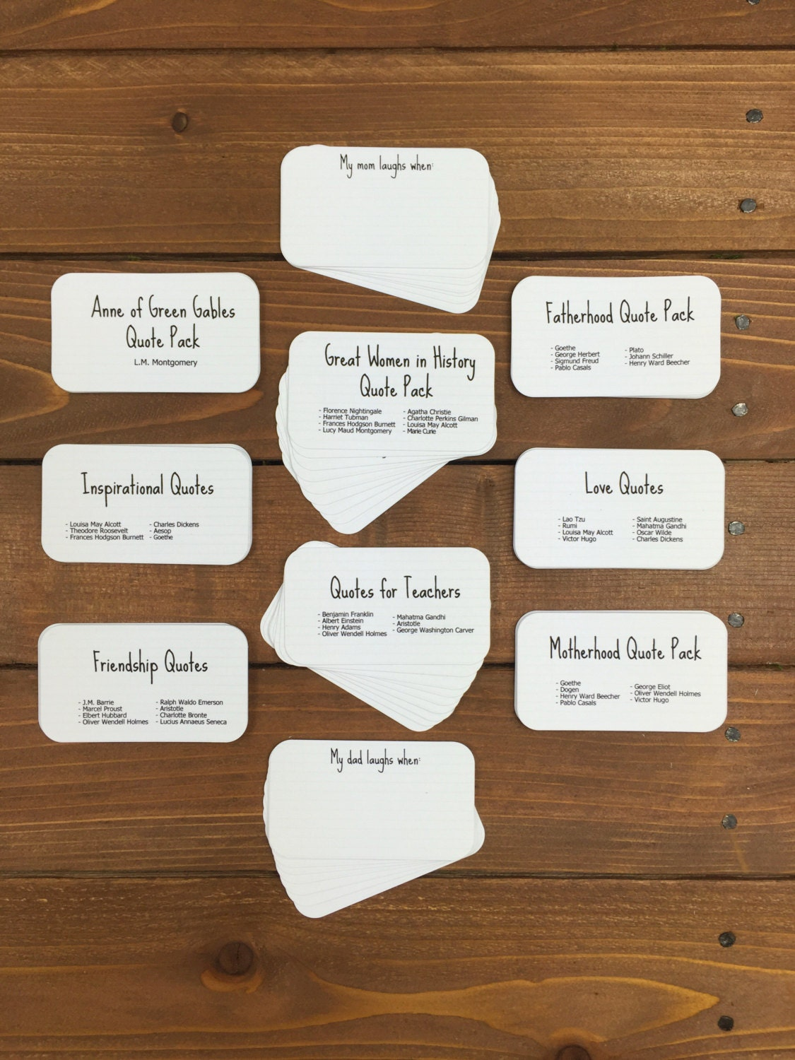 Mini Quote Cards - You choose 3 // Graduation Gift, Friendship Gift ...