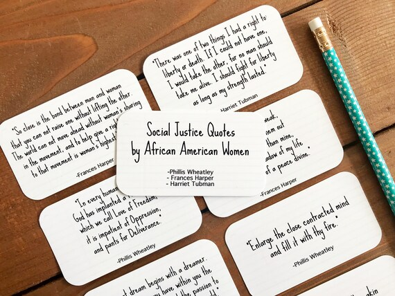 Social Justice Quotes By African American Women, Inspiring Quotes by Strong  Black Women - Set of 8 Mini Quote Cards