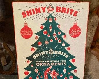Gold Christmas Decoration Vintage Shiny Brite Ornament Vintage Lantern Ornament