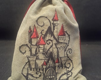 Fairy Tale Castle Embroidered Tarot Bag/Pouch