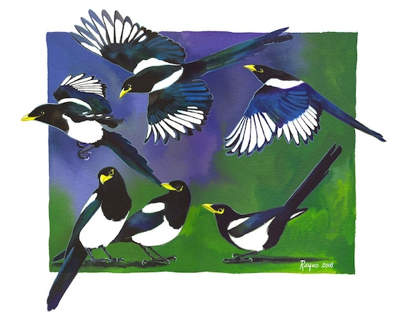 Limited Edition GICLEE PRINT Tidings Of Magpies