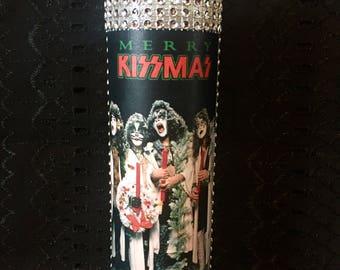 Merry Kissmas KISS custom prayer holiday candle