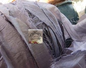 Sari Silk Recycled Ribbon in a Pastel Periwinkle