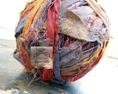 Sari Silk Rainbow in Fun Multi Colored Mix I Recycled Silk Ribbon