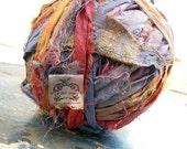 Sari Silk Rainbow in Fun Multi Colored Mix I Recycled Silk Ribbon