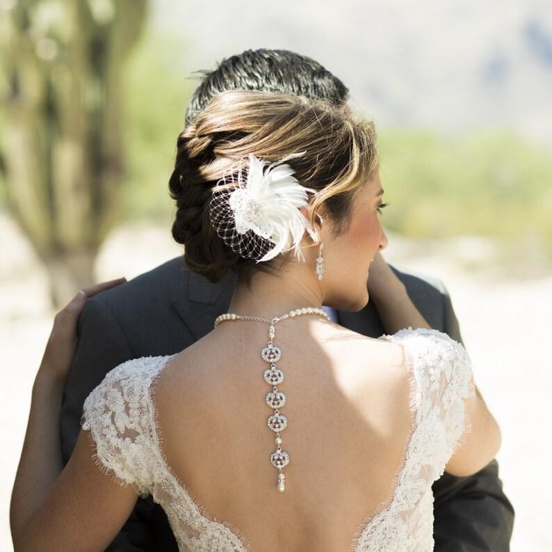 Fascinator Ivory Hair Clip Wedding Hair Clip Wedding Hair image 0
