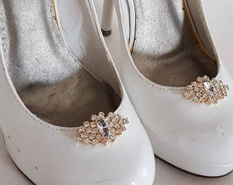 Rhinestone Shoe Clips, Silver or Gold, Shoe Clips,  Jewel Clips for Shoes,  Heels,  Pumps, wedding shoe clips,  bridal shoe clips