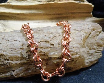 Shiny Copper Necklace Link Chain 18 inch Handmade Copper Chain