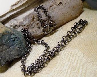 20 inch Black Rolo Chain Necklace