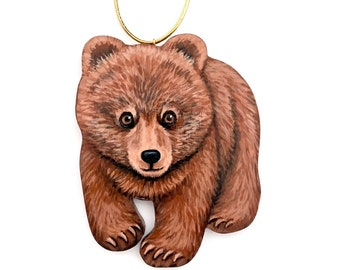 Brown Bear Cub Ornament