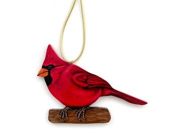 Cardinal Red Bird Handmade Ornament - Male Cardinal Christmas Decoration - Bird Lover Gift - Nature Lover Gift -