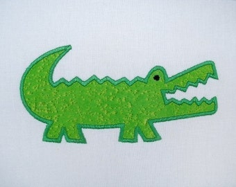 Embroidery Design for Machine embroidery - Gator-Alligator Applique 4x4 and 5x7