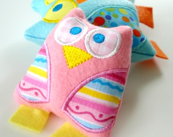 Owl Softie Embroidery Design for Machine Embroidery - Softie In-The-Hoop