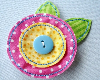 In-The-Hoop  Felt-Fabric Flowers Machine Embroidery - Two Sizes 4x4 and 5x7