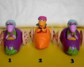 Vintage Fraggle Rock McDonald/'s Happy Meal Toys 1988 Henson Vintage Lot Cars Miniatures 80s 90s Fast Food Gift The Muppets