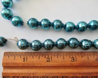7x5mm Czech Glass Rondelle Beads OpalMilky Aqua Blue with Mercury Style Finish 25 Beads