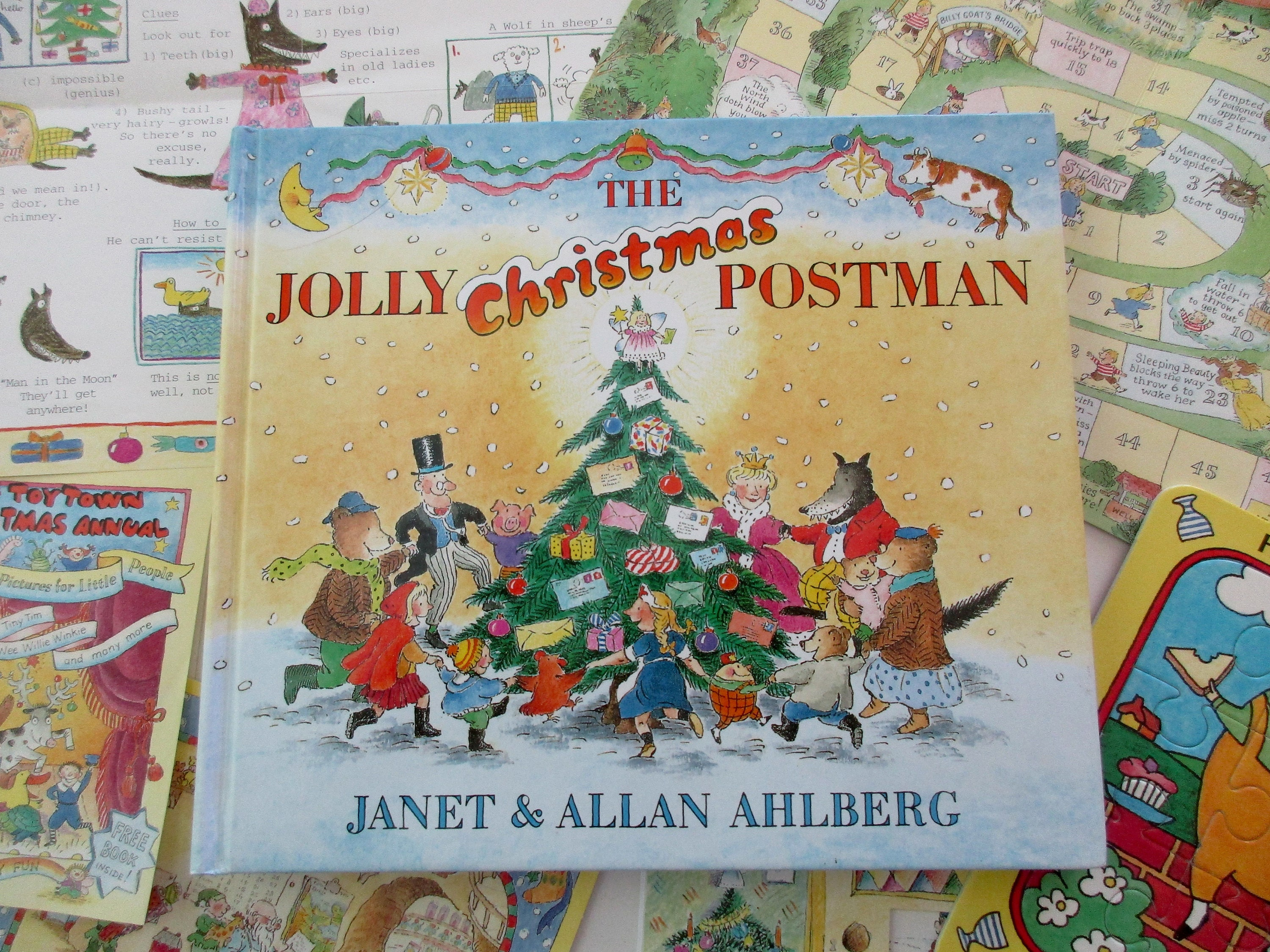 vintage book The Jolly Christmas Postman Ahlberg 1990s | Etsy
