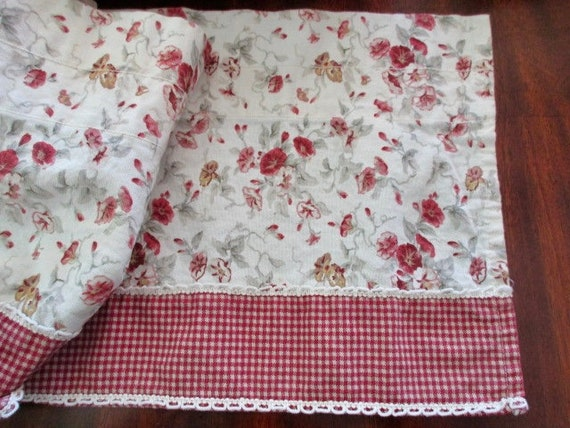 Cotton WAVERLY Garden Room Valance Curtain Floral Gingham   Etsy