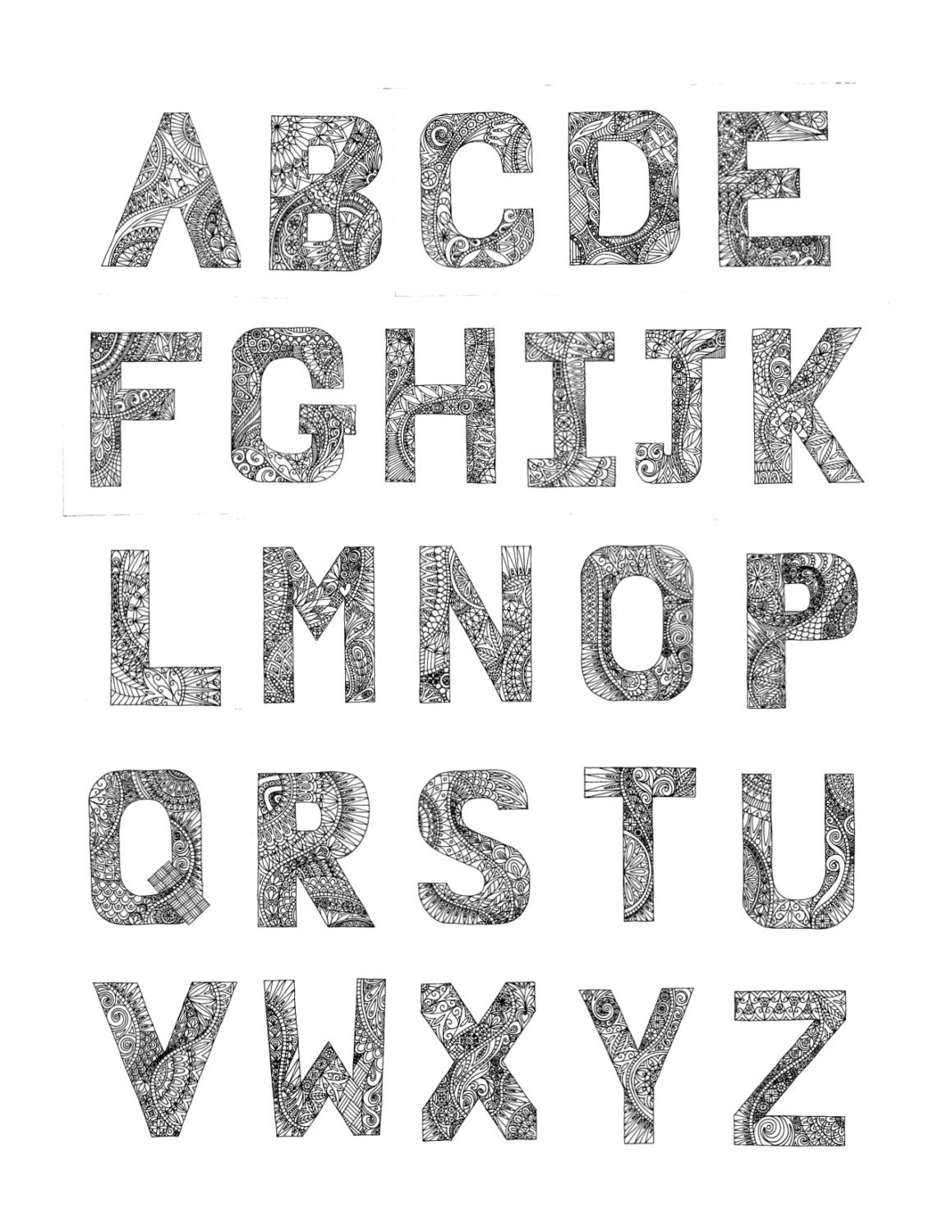 Alphabet Coloring pages PDF 26 printable images to print ...