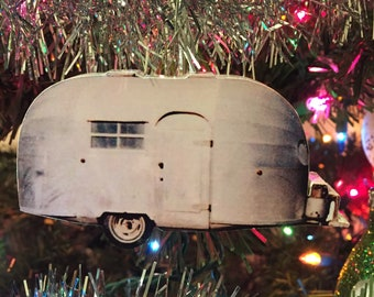 vintage camper christmas ornament