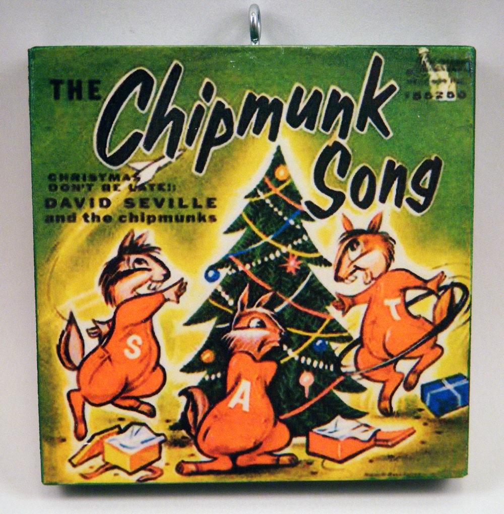Chipmunk Christmas Song Tribute Ornament | Etsy