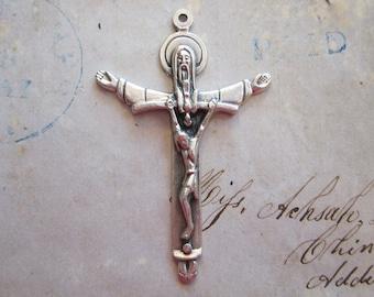 Crucifix pendant etsy aloadofball Choice Image