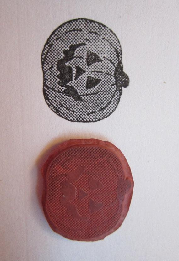 rubber stamp - JACK o'LANTERN - Halloween pumpkin - red rubber stamp - unmounted stamp