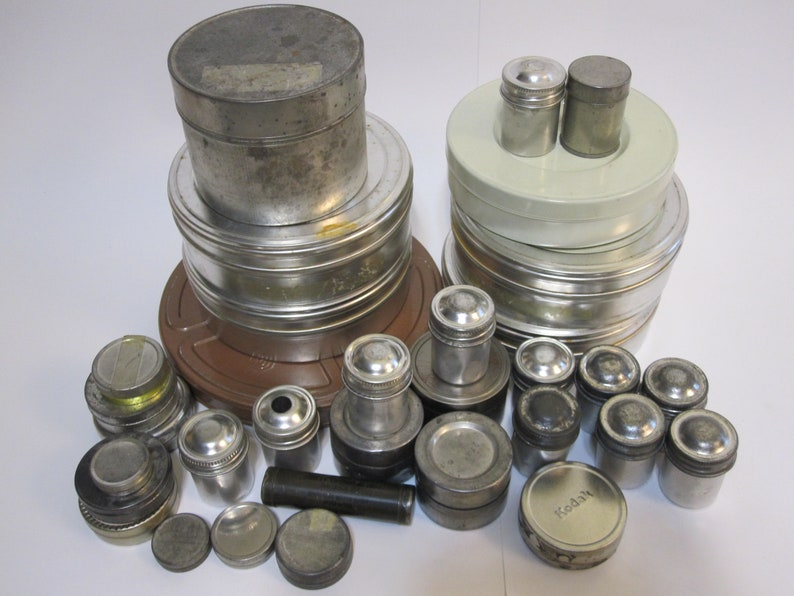 Vintage and salvaged tins industrial chic storage etsy
