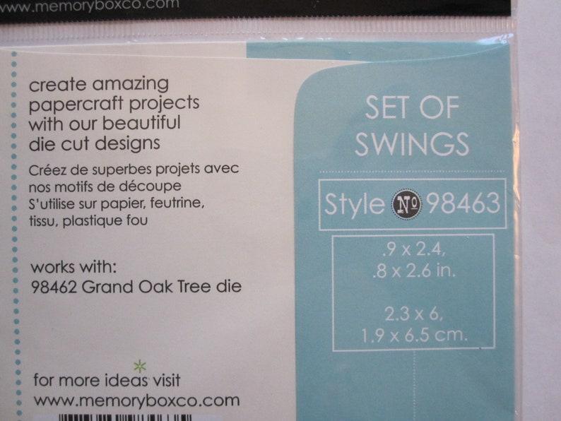 Memory Box die 98463 tree swing cutting die Set of Swings cutting die tire swing metal die