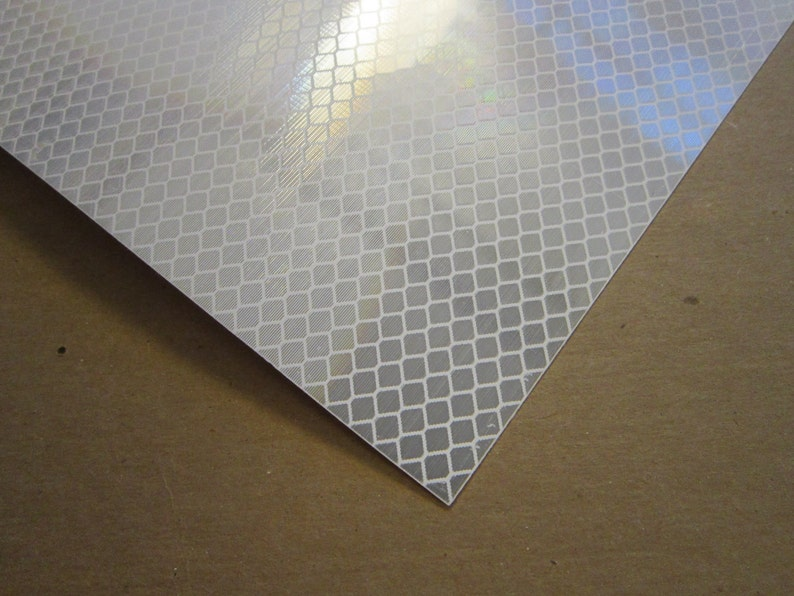 adhesive back reflective tape sheet - white honeycomb reflective material,  safety tape sheet