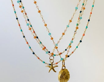 Gold Sea Shell Necklace