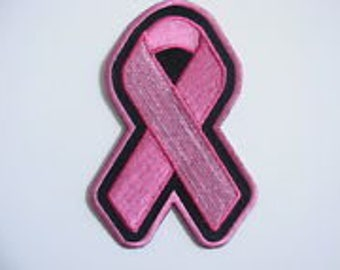Pink Ribbon Breast Cancer Patch PLAIN