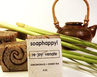 Re.Joy.Venate Green Tea and Lemongrass Handmade Vegan Soap