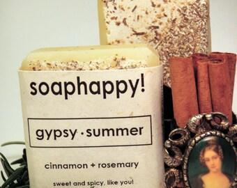 Gypsy Summer - Handmade Vegan Cinnamon Rosemary Soap