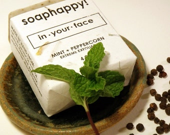 In Your Face, Peppermint and Peppercorn Handmade Soap
