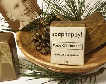 Papa G's Pine Tar--Handmade Vegan Pine Tar and Lavender Soap