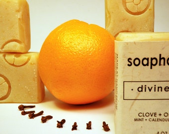 Divine Fall -- Clove, Orange Handmade Vegan Soap